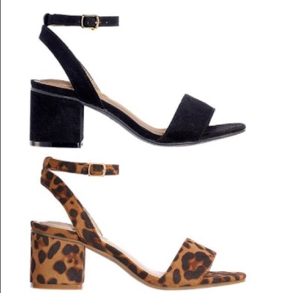 Fauxsuede Block Heel Sandal | Poshmark